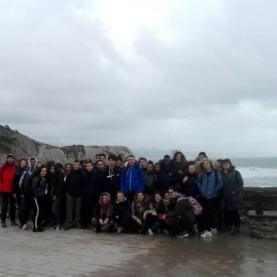Visita de estudiantes de Normandía