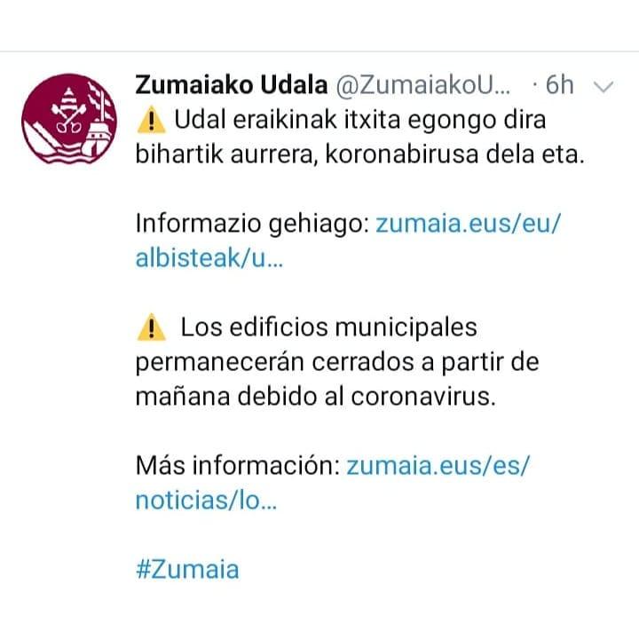 Algorri  Zentroa itxita